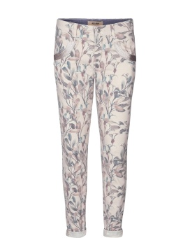 Mosmosh Naomi Olive Pant Blue Flower Regular