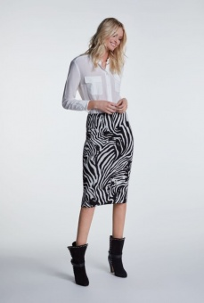Oui Skirt Black/Grey