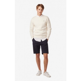 Boomerang Lund cable knit contrast O-neck sweater
