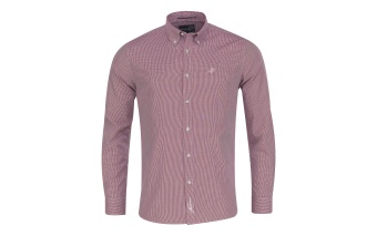 Pelle P Reliance Shirt 2.0 Ruby Red Petite Chec