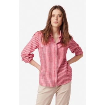 Boomerang Lill Striped Shirt Real Red