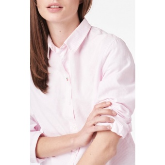 Boomerang Lilly Striped Oxford Shirt Powder pink