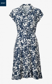 Boomerang Sabina Printed Dress Midnight Blue