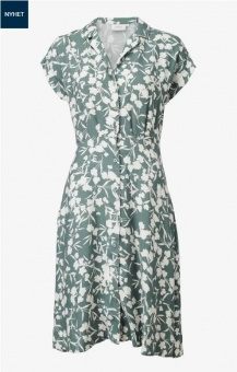 Boomerang Sabina Printed Dress Venetian Green