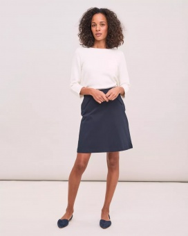 Newhouse Satin Skirt Navy