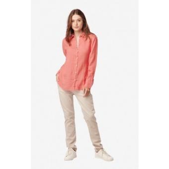 Boomerang Linn Linen Shirt Spiced Coral