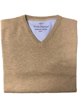 Fynch Hatton Superfine cotton V-neck