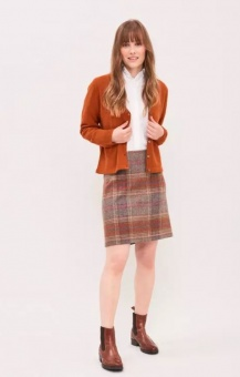 Newhouse Morland Tweed Skirt Fox