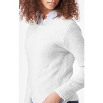 Boomerang knopp sweater Putty
