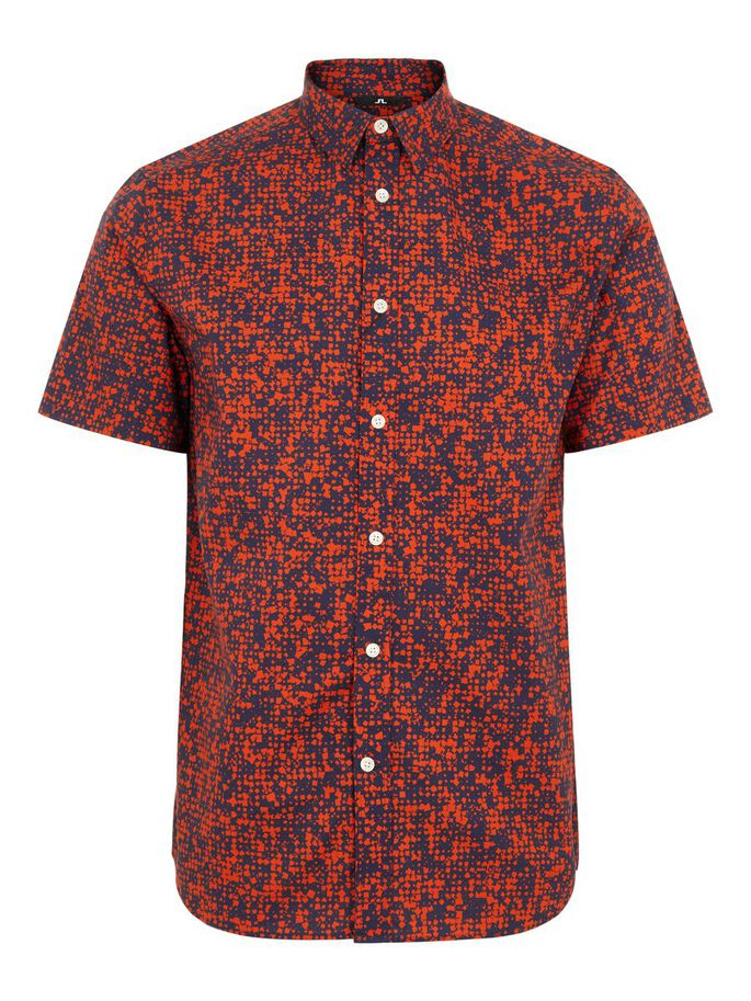 J.Lindeberg Daniel SS Seasonal Print Fried Tomato