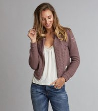 Odd Molly Sweep around Short Cardigan Rose Taupe