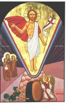 Uppståndelsen 15x23 cm, koptisk