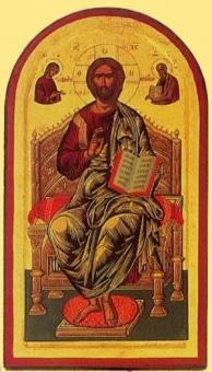 Tronande Kristus 31x18cm