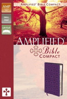 Amplified Bible - Compact - Purple Imitation Leather