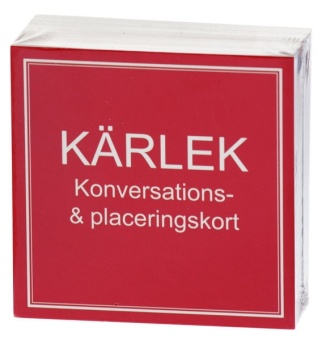 Kärlek: Konversations- & placeringskort