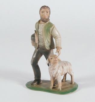Herde m. får, 15x9 cm 'Birgitta', berkalit