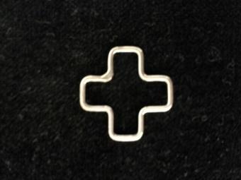 Kors liksidigt 2cm, silver