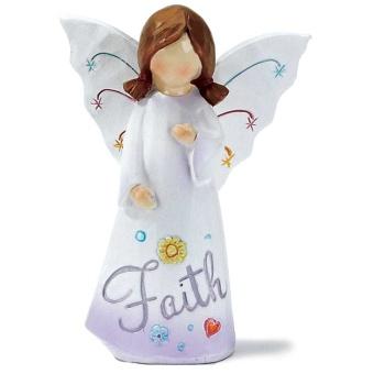 Ängel 'Faith', 10 cm, resin
