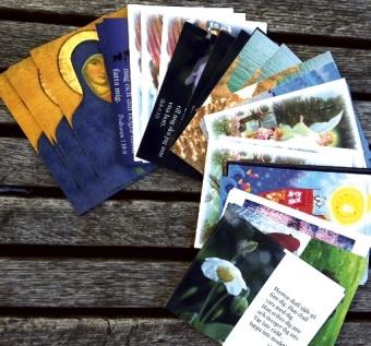 Paket med blandade ikonbilder och 60 varierande vykort.