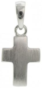 Kors, silver matt 'välvt', 11x8 mm