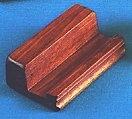 Ikonstöd, brunt trä m. kant