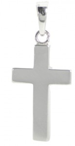 Kors, silver blankt 'rakt', 17x11 mm
