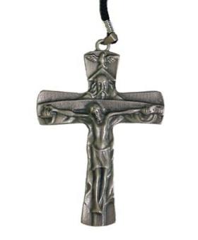 Kors 'Nådastolen', tenn 85x65 mm, inkl. snodd & etui