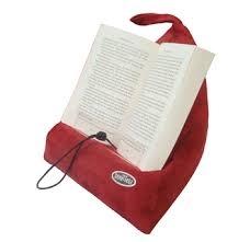 Läskudde 'Book Seat' blå textil, m. ficka