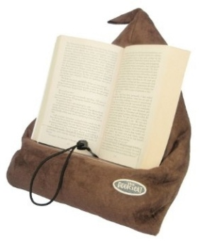 Läskudde 'Book Seat' röd textil, m. ficka