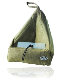 Läskudde 'Book Seat' olivgrön textil, m. ficka