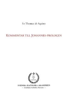 Kommentar till Johannes-prologen