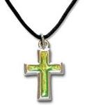 Kors, ändrar färg vid värme, 22 mm, inkl. textilsnodd