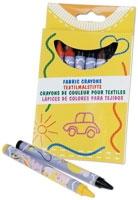 Kritor för textil, ask m. 8 st kritor i blandade färger - t.ex. till tygpåsar