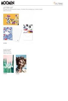 Mumin, div motiv - innehåller 20 brevpapper, 10 kuvert & 2 klistermärkesblad (Tove Janssons originalillustrationer)