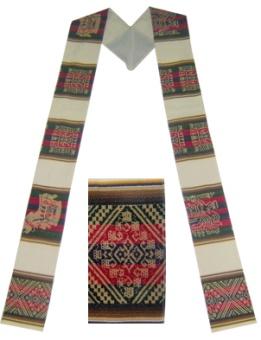 Awayo-stola från Anderna 14,5 cm bred, 110 cm lång