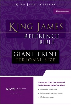 Holy Bible, King James Reference Bible, Giant Print Personal-Size (Black)