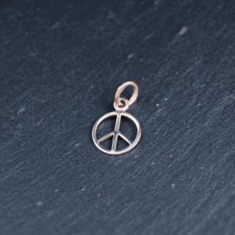 Peacemärke, silver, 10 mm