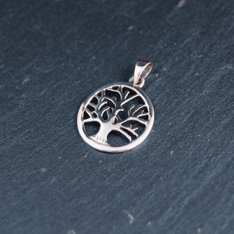 Livets träd, silver, 17 mm