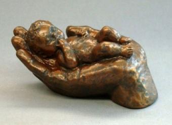 Gentlenes, brons h. 9 cm