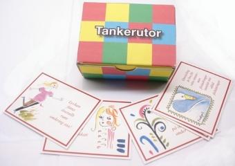 Tankerutor, 62 kort med ordspråk och färgillustrationer