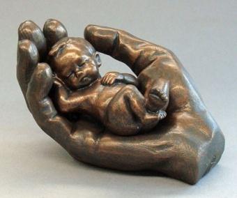 Tenderness, brons, två delar h. 10 cm