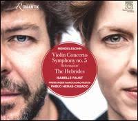Violin Concerto,  Symphony no. 5, The Hebrides