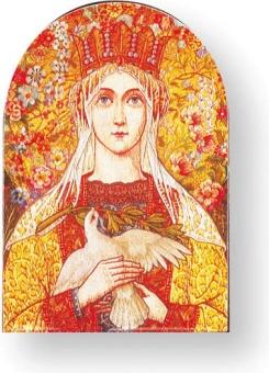 Vår fru av fred, 10x14cm