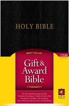Holy Bible, new living translation, svart konstskinn