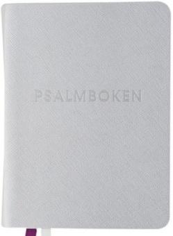 Psalmbok med tillägg, gummiomslag, 92x125mm, silver (2018)