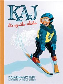 Kaj lär sig åka skidor - Illustrerad av Thomas Olsson