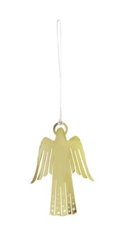Ängel, guldfärgad, 9 cm