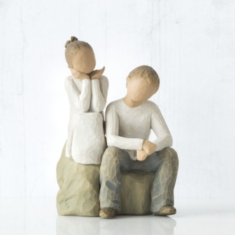 Brother and Sister (bror och syster) 14cm