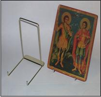 Ikonstativ, metall 14 cm