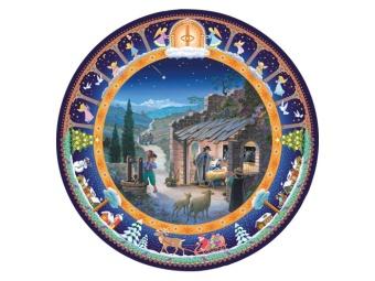 Stallet i Betlehem, rund, 45cm diameter